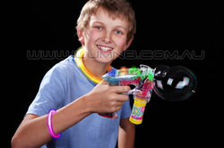 FLASH TOY-1PC/PACK- LIGHT UP BUBBLE GUN