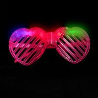 FLASH SUNGLASSES-1PC/PBAG-HEART-PINK