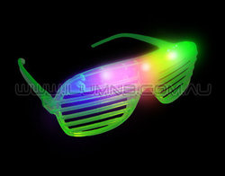 FLASH SUNGLASSES-1PC/PBAG-SHUTTER-GREEN