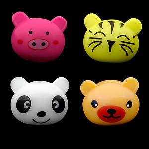 144 x Flashing Rings Jelly Cute Animals Mix