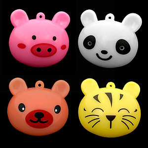 96 x Flashing Necklaces Jumbo Cute Animals Mixed