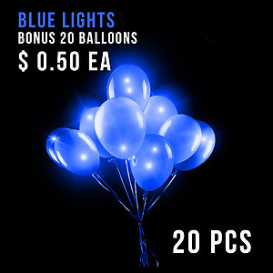 BALLOON LIGHTS-NEW BLUE-20 PC+20 BALLOONS