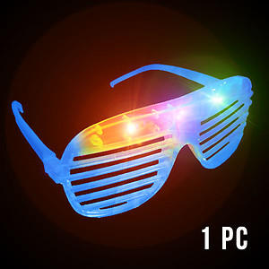 1 x Flashing 'Shutter Shades' (Sunglasses) - Blue