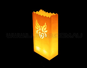 10 x Candle Bags / Luminarias: Doves