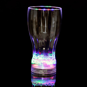 1 x  Large Flashing Cola Glass 375ml (12.6oz)