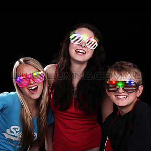 120 x Flashing Shutter Shades (Mixed Colours)