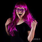 DELUXE LONG HAIR WIG-FLURO PURPLE-1PC