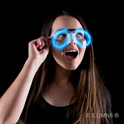 GLOW NOVELTY-EYEGLASSES-BLUE-1PC