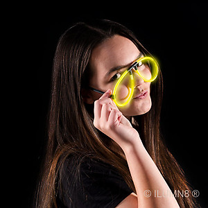GLOW NOVELTY-EYEGLASSES-YELLOW-1PC