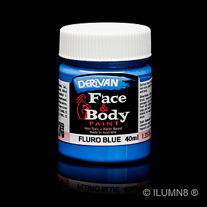 40ml UV Reactive Face & Body Paint - Neon/Fluro Blue