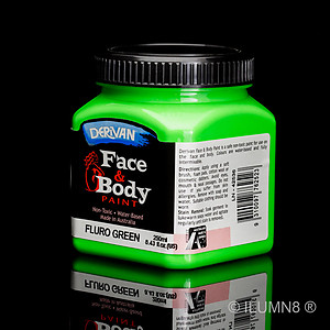 250ml UV Reactive Face & Body Paint - Neon/Fluro Green