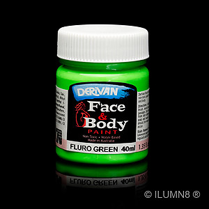 40ml UV Reactive Face & Body Paint - Neon/Fluro Green
