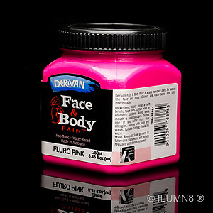 250ml UV Reactive Face & Body Paint - Neon/Fluro Pink