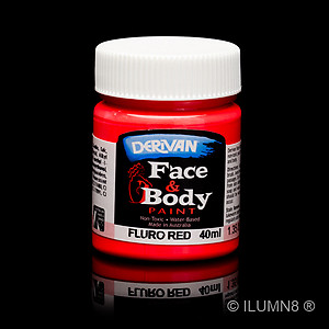 40ml UV Reactive Face & Body Paint - Neon/Fluro Red