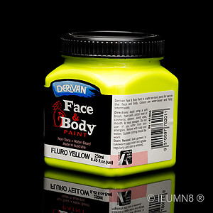 250ml UV Reactive Face & Body Paint - Neon/Fluro Yellow