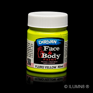 40ml UV Reactive Face & Body Paint - Neon/Fluro Yellow