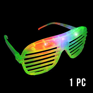 1 x Flashing 'Shutter Shades' (Sunglasses) - Green
