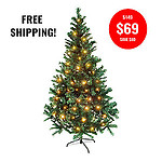 PINE CHRISTMAS TREE-180CM + 10MTR WARM WHITE  FAIRY LIGHTS