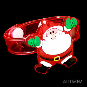 1 x Flashing Bracelet - Jolly Santa
