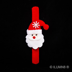 1 x Flashing Slap Bracelet - Cute Santa