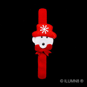 1 x Flashing Slap Bracelet - Xmas Bear