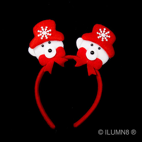 FLASHING HEADWEAR-CUTE XMAS BEAR HEAD BOPPER-1PC