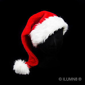 DELUXE SANTA HAT RED PLUSH 60CM-1PC