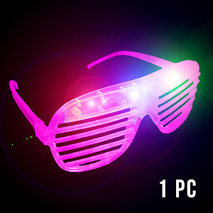 1 x Flashing 'Shutter Shades' (Sunglasses) - Pink
