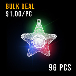 BULK FLASHING NECKLACE-XL STAR PRISM-96PCS CTN