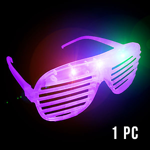 1 x Flashing 'Shutter Shades' (Sunglasses) - Purple