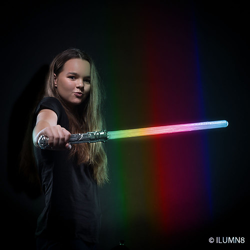 FLASHING SWORD-MULTI COLOUR RAINBOW-1PC