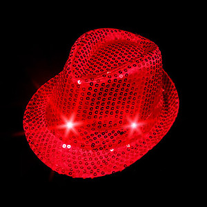 30 x Flashing Hat -  Fedora Variety Pack - Sequin Hats