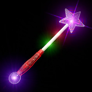1 x Flashing Shooting Star Wand 41cm - FACTORY SECONDS ONLY 10 AVAILABLE