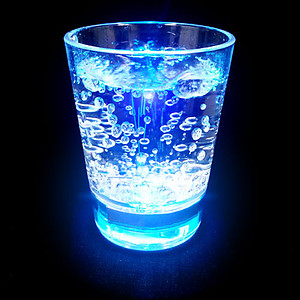 Flashing Shotglass - Liquid Activated, Colour Changing 1pc