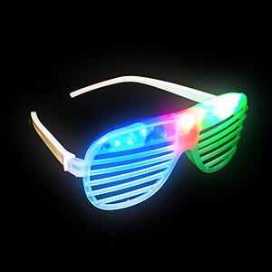 1 x Flashing 'Shutter Shades' (Sunglasses) - White