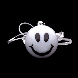 96 x Flashing Necklaces Smiley Face