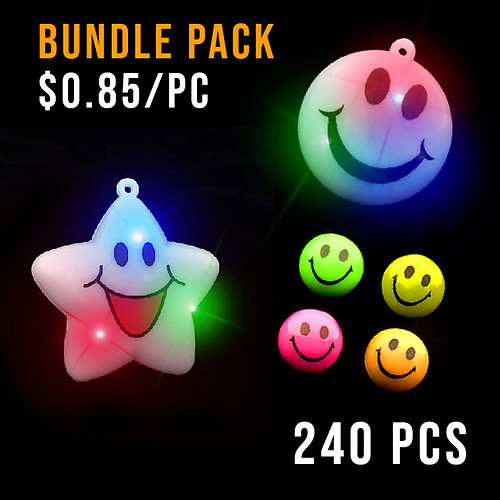 BUNDLE-SMILEY PARTY PACK MEDIUM-240PC