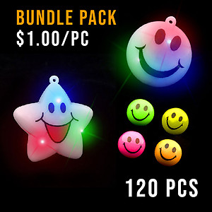BUNDLE DEAL - SMILEY PARTY NECKLACE & RING SMALL PACK - 120 PC