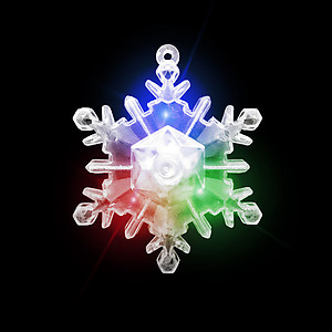 24 x Flashing XL Snowflake Necklaces Flashes Red/Green/Blue - 3 Modes