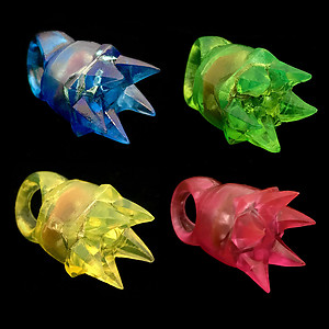 144 x Flashing Rings Jelly Spikey Mixed Colours