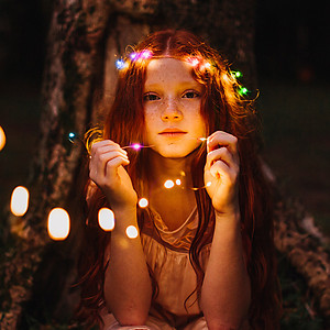 2m Copper Wire Fairy Lights - Multi Colour (20 LED's)