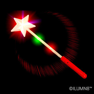 1 x 'Twinkle Star' Flashing Wand 38cm