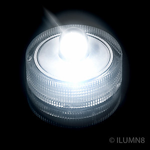 1 x LED Waterproof Submersible Light - White