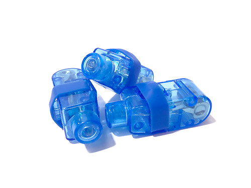 FINGER LIGHTS BLUE-50PC PACK