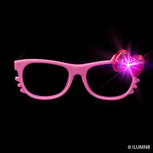 1 x Kitty Glasses - With Flashing Bow