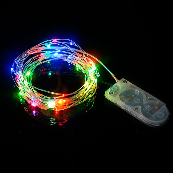 WIRE STRING LIGHTS-MULTI COLOUR 2MTR-1PC