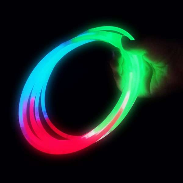 GLOW NECKLACES-22INCH 50PC TUBE TRI-COLOUR