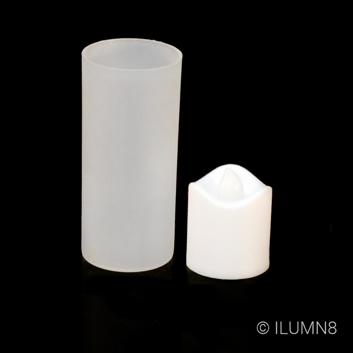 LED CANDLES-VOTIVE WITH FROSTED HOLDER-96PC CTN