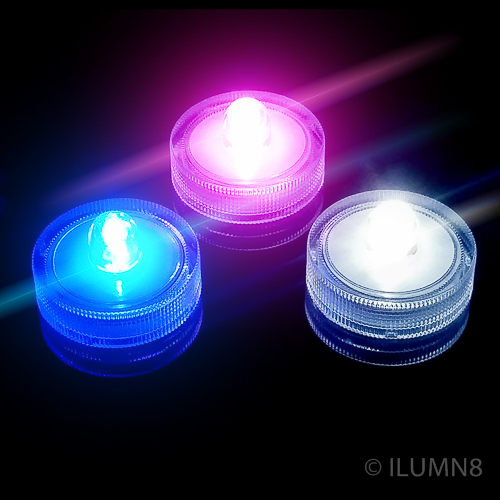 LED SUBMERSIBLE LIGHT-PINK-12PC