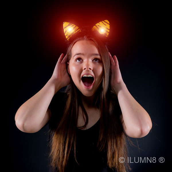 FLASHING HEADBOPPER-TIGER EARS-1PC